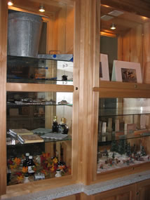 Display case maple syruping